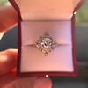 1.32ctw Old European Cut Diamond Floral Halo Ring 50