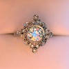 1.32ctw Old European Cut Diamond Floral Halo Ring 43