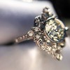 1.32ctw Old European Cut Diamond Floral Halo Ring 39