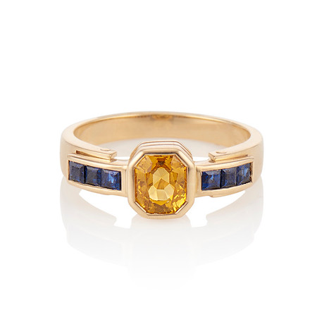 1.48ctw Yellow and Blue Sapphire Ring