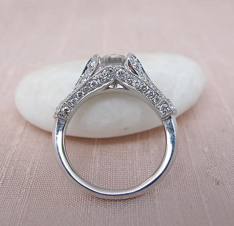 1.50ct Mira Moissanite Ring, JbEG Lily Setting