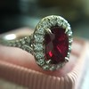1.52ct Ruby Halo Ring, GIA No Heat 20
