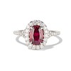 1.52ct Ruby Halo Ring, GIA No Heat 0