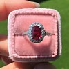 1.52ct Ruby Halo Ring, GIA No Heat 27