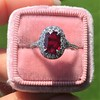 1.52ct Ruby Halo Ring, GIA No Heat 7
