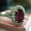 1.52ct Ruby Halo Ring, GIA No Heat 21