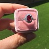 1.52ct Ruby Halo Ring, GIA No Heat 26