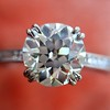 1.72ct Old European Cut Diamond Solitaire, AGS K VS1 0