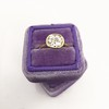 1.82ct Antique Cushion Cut Diamond Bezel Ring AGS I SI1 15