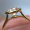 1.82ct Antique Cushion Cut Diamond Bezel Ring AGS I SI1 13