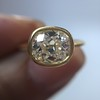 1.82ct Antique Cushion Cut Diamond Bezel Ring AGS I SI1 23