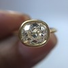 1.82ct Antique Cushion Cut Diamond Bezel Ring AGS I SI1 10