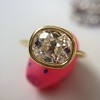 1.82ct Antique Cushion Cut Diamond Bezel Ring AGS I SI1 12