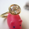 1.82ct Antique Cushion Cut Diamond Bezel Ring AGS I SI1 11