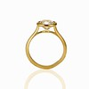 1.82ct Antique Cushion Cut Diamond Bezel Ring AGS I SI1 4