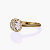 1.82ct Antique Cushion Cut Diamond Bezel Ring AGS I SI1 1