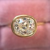 1.82ct Antique Cushion Cut Diamond Bezel Ring AGS I SI1 24