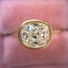 1.82ct Antique Cushion Cut Diamond Bezel Ring AGS I SI1 6