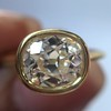 1.82ct Antique Cushion Cut Diamond Bezel Ring AGS I SI1 21