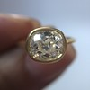 1.82ct Antique Cushion Cut Diamond Bezel Ring AGS I SI1 22
