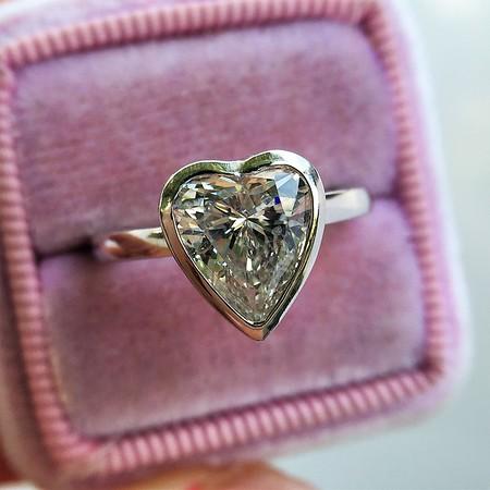 1.90ct Heart Shape Diamond Bezel Ring