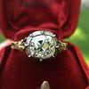 2.11ct Antique Cushion Cut Diamond Georgian Style Ring GIA OP 11