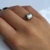 2.11ct Antique Cushion Cut Diamond Georgian Style Ring GIA OP 18