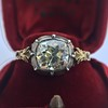 2.11ct Antique Cushion Cut Diamond Georgian Style Ring GIA OP 8