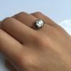 2.11ct Antique Cushion Cut Diamond Georgian Style Ring GIA OP 15