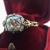 2.11ct Antique Cushion Cut Diamond Georgian Style Ring GIA OP 10