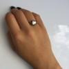 2.11ct Antique Cushion Cut Diamond Georgian Style Ring GIA OP 13