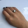 2.11ct Antique Cushion Cut Diamond Georgian Style Ring GIA OP 12