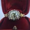 2.11ct Antique Cushion Cut Diamond Georgian Style Ring GIA OP 5