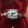 2.11ct Antique Cushion Cut Diamond Georgian Style Ring GIA OP 3