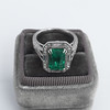 2.57ct Colombian Emerald Halo Ring, AGL-certified 5