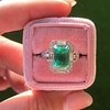 2.57ct Colombian Emerald Halo Ring, AGL-certified 11