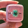 2.57ct Colombian Emerald Halo Ring, AGL-certified 16