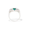 2.57ct Colombian Emerald Halo Ring, AGL-certified 2