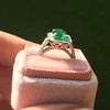 2.57ct Colombian Emerald Halo Ring, AGL-certified 13