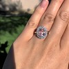 2.83ct No-Heat Padparadscha Sapphire Cluster Ring ​  18