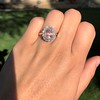2.83ct No-Heat Padparadscha Sapphire Cluster Ring ​  6