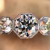 2.90ctw Old European Cut Diamond Trilogy Ring by Single Stone 7