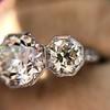 2.90ctw Old European Cut Diamond Trilogy Ring by Single Stone 25