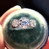 2.90ctw Old European Cut Diamond Trilogy Ring by Single Stone 21