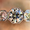 2.90ctw Old European Cut Diamond Trilogy Ring by Single Stone 4