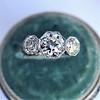 2.90ctw Old European Cut Diamond Trilogy Ring by Single Stone 22