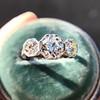 2.90ctw Old European Cut Diamond Trilogy Ring by Single Stone 20