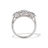 2.90ctw Old European Cut Diamond Trilogy Ring by Single Stone 3