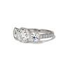 2.90ctw Old European Cut Diamond Trilogy Ring by Single Stone 1