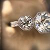 2.90ctw Old European Cut Diamond Trilogy Ring by Single Stone 9